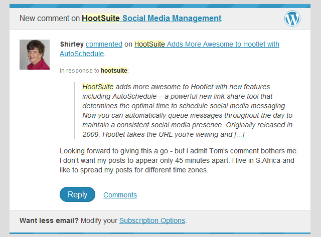 HootSuite Autoschedule timing concern