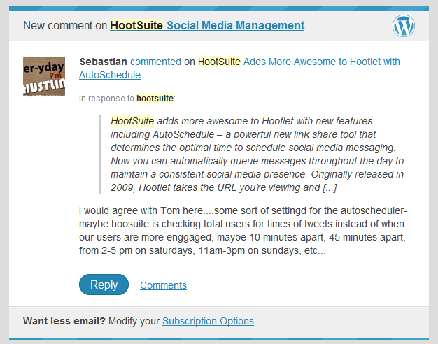 HootSuite Autoschedule scheduling concern