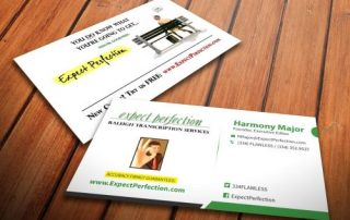 Expect-Perfection-Raleigh-Transcription-Services-Business-Card-Preview
